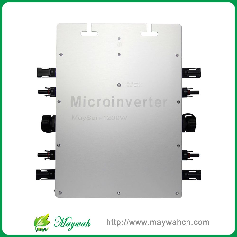 Waterproof!!! Maysun1200W 22-50VDC Solar on grid tie micro inverter with 4 MPPT Function And 2 Meters Cable(China (Mainland))