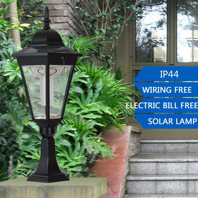 achetez en gros solaire pilier lampe en ligne des grossistes solaire pilier lampe chinois. Black Bedroom Furniture Sets. Home Design Ideas