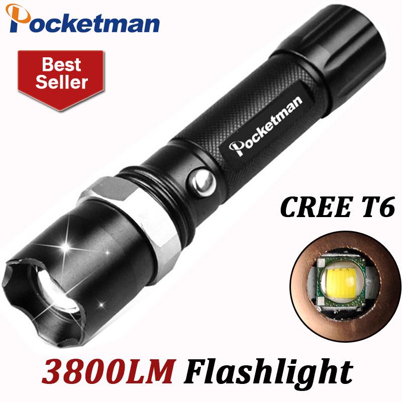 3800Lumens T6 Led Flashlight Torche Led Torch Lampe Zoomable Waterproof Tactical Flashlight lanterna Camping Hiking ZK93(China (Mainland))