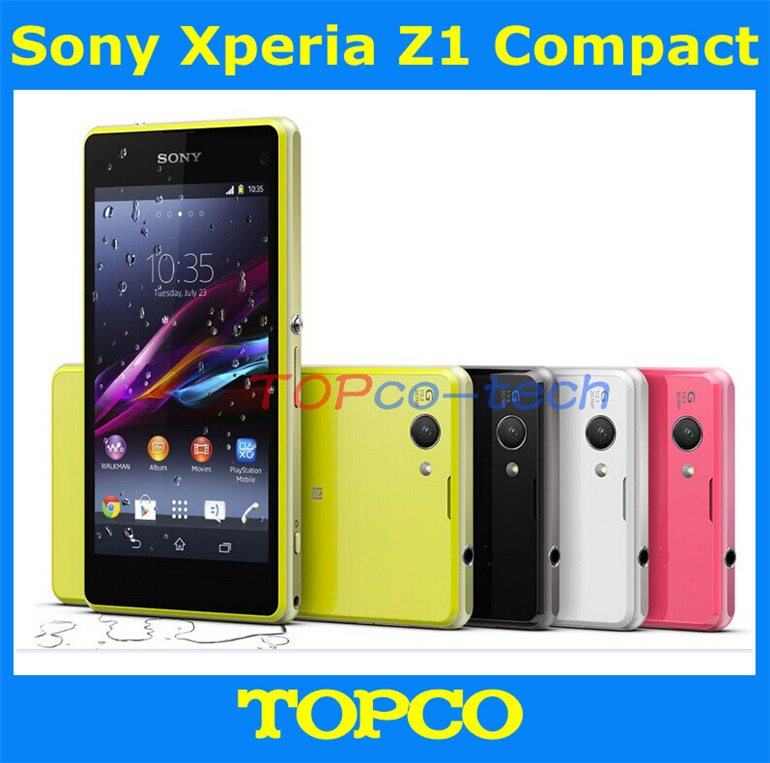 """Original Unlocked Sony Xperia Z1 Compact GSM 3G&4G Android Quad-Core 2GB RAM D5503 4.3"""" 20.7MP WIFI GPS 16GB ROM dropshipping(China (Mainland))"""