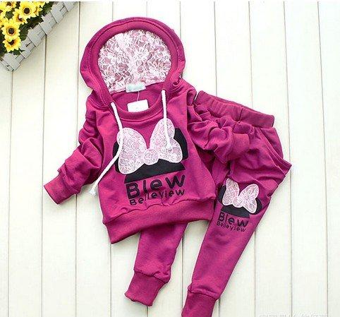 3 couleurs enfants v tements de sport v tements b b set costume filles sport v tements pour - Vetement bebe fille fashion ...