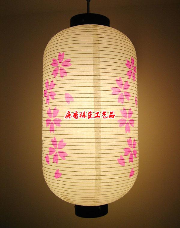 Sakura Japanese paper lanterns Japanese restaurant and room decoration paper lantern light cherry Rose(China (Mainland))