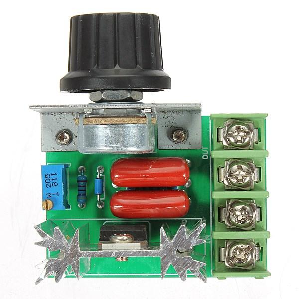 2000W 50-220V Adjustable Voltage Regulator PWM AC Motor Speed Control Controller Newest High Quality(China (Mainland))