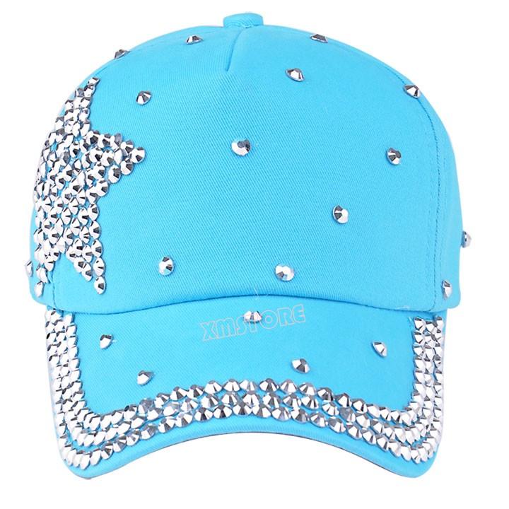 New Fashion Children Cap Popular Star Shaped Rhinestone Kids Baseball Cap Hat(China (Mainland))