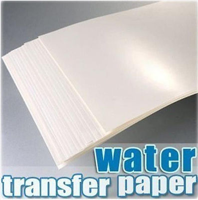 10pc A4 Inkjet Water Slide Decal Paper Craft Transfer A4 White inkjet water transfer paper(White background) BD1018(China (Mainland))