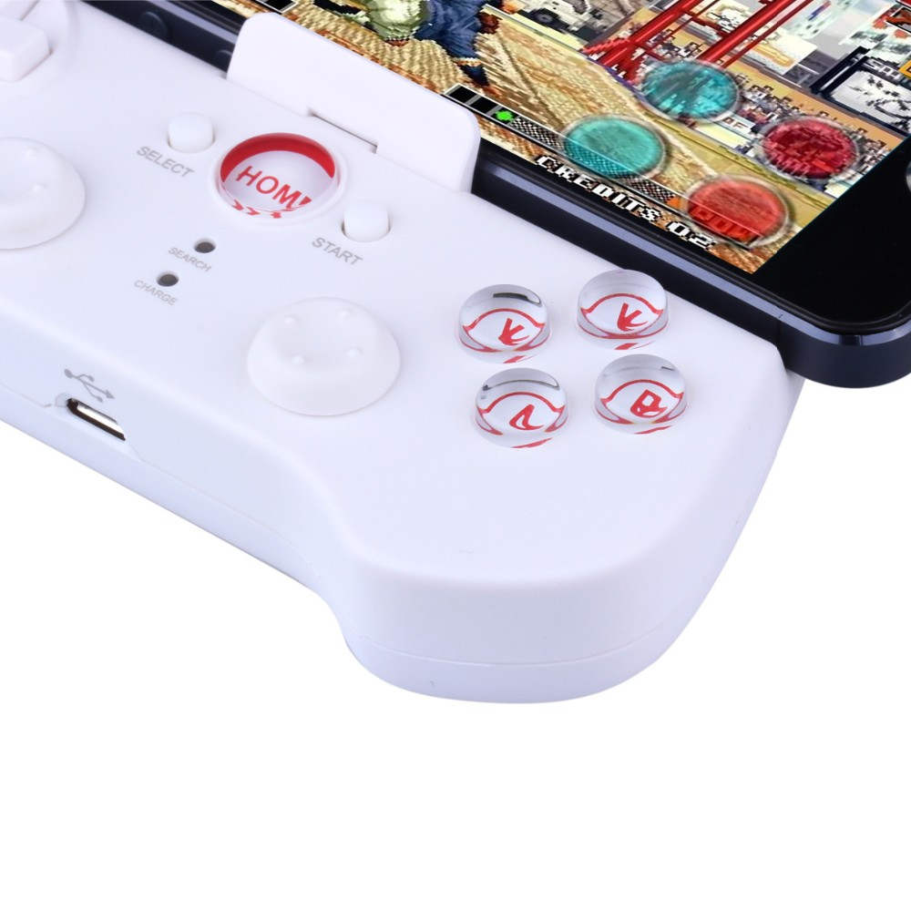 White PG 9017 iPega Wireless Bluetooth Game Gaming Controller Joystick Gamepad for Android / iOS Cell phone Tablet PC TV BOX