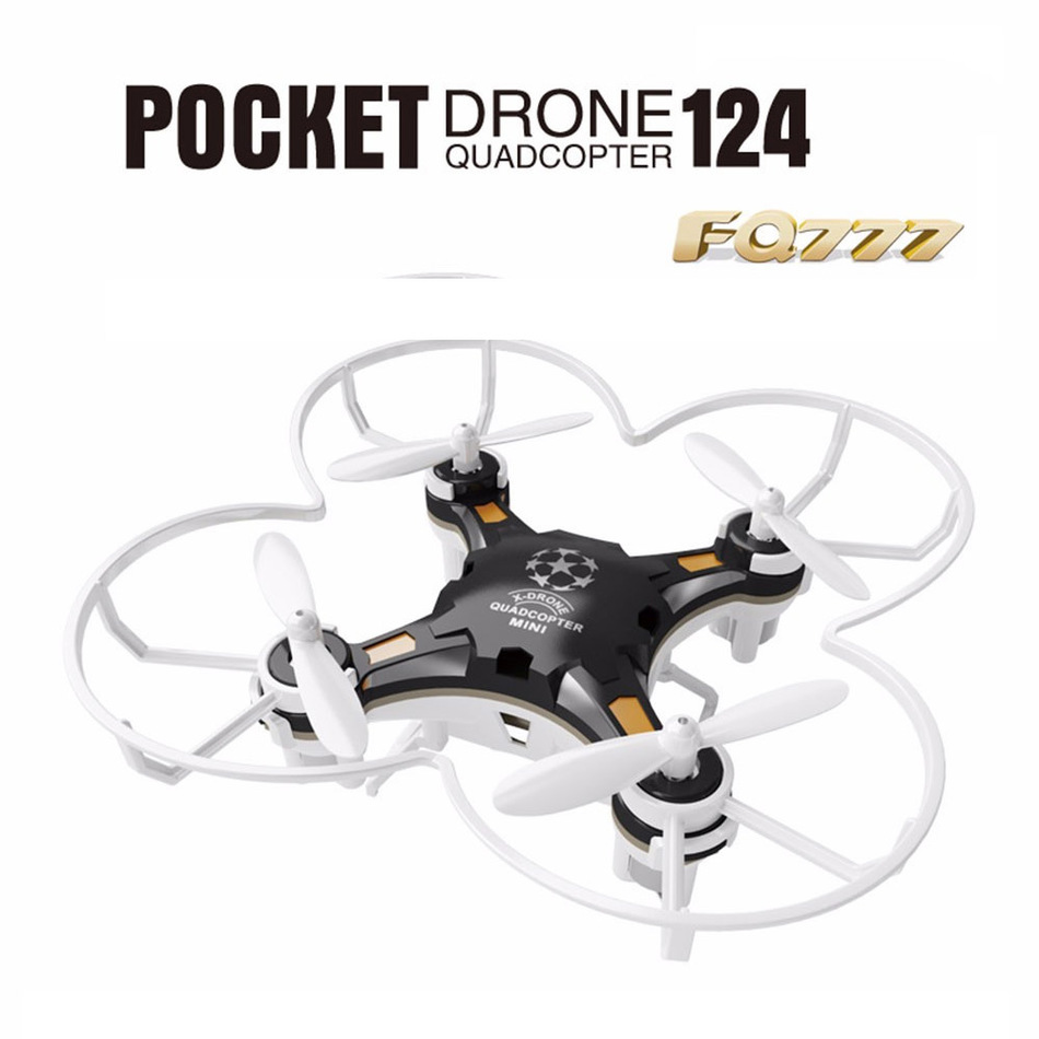 FQ777-124 RC Drone Dron Micro Pocket Drone 4CH 6Axis Gyro Switchable Controller Quadcopter RTF Flying Helicopter Kids Toys Gifts(China (Mainland))