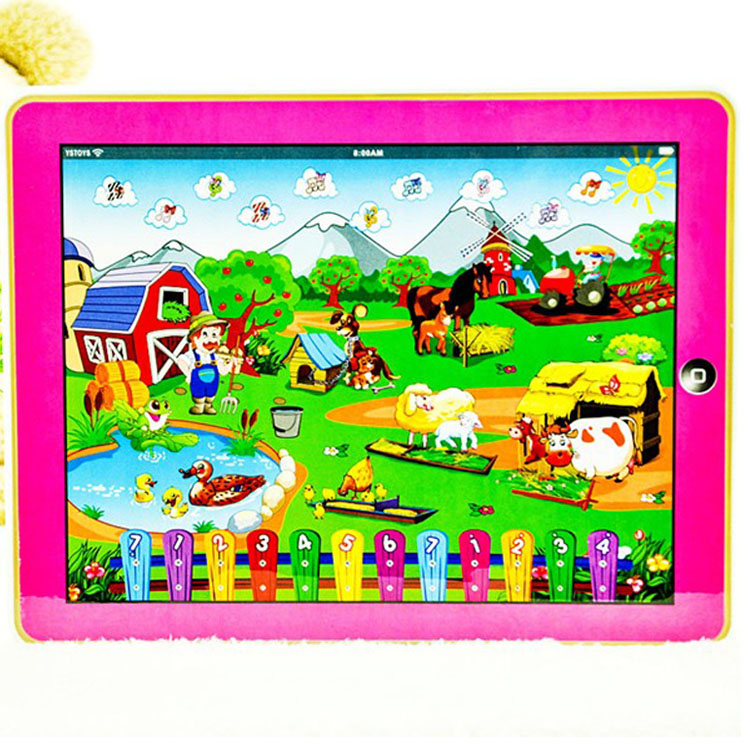 New Arrival!! free shipping Y pad Table Farm Learning English Computer for Children kids learning english table computer(China (Mainland))