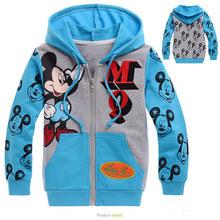 2016 autumn/winter baby boy cotton sweatshirt boy mickey hoodies boy cartoon printing hooded coat  children's fashion sweatshirt(China (Mainland))
