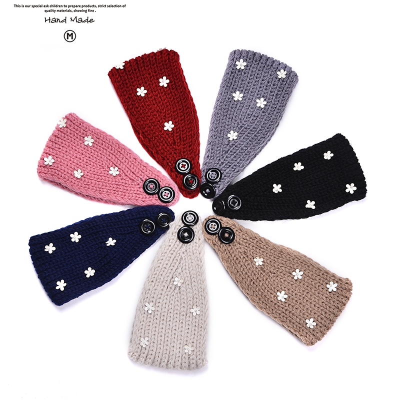 Women ElasticHand Made Style Hair Band Headband Top Knot Turban Head flower headband Girls Headwear Ornament accessories#FD068(China (Mainland))