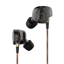KZ ATE Headphone Original Copper Driver Ear Hook HiFi Running Sport Headphones For Running With Foam Eartips With Microphone