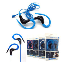 Universal 3.5mm In-ear sports Earphones Headphone running with Microphone for iphone Samsung HTC MP3 MP4