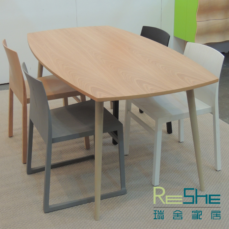 Swiss homes rectangular tables dining tables solid wood office desk six seater modern - Seater dining table ikea ...