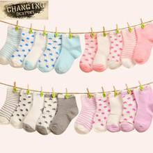 5 Pairs 0-3 Years Baby Newborn Cotton Socks Kids Children Floor Short Socks Girl and Boy Casual Socks(China (Mainland))
