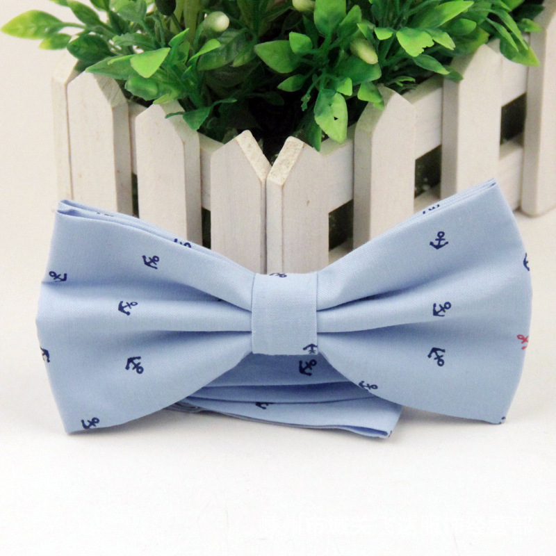 Men's Bow Tie British Style Cotton Bowtie for Men Casual Gravata Borboleta of Vestidos Wedding Party Butterfly Anchor Bow Ties(China (Mainland))