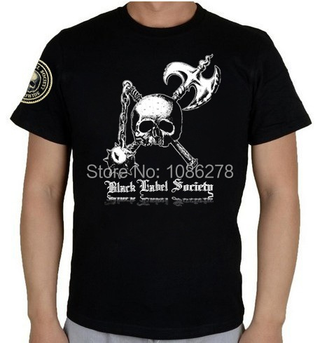 Design 2014 mens custom t shirts black label society rock for Custom t shirts international shipping