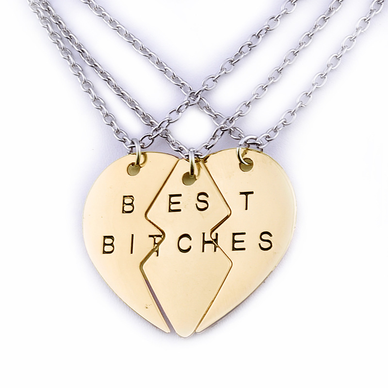 2016 new explosion models selling jewelry good friend best bitches bestie Pendant Necklace Jewelry Wholesale(China (Mainland))