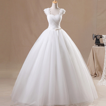 Vestidos De Novia Wedding Dress 2016 Hot Sale Sweetangel Sexy V-Neck Flower Wedding Dress Elegant White Princess Wedding Dress