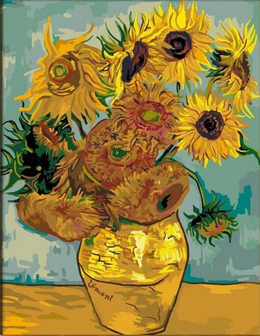 Acquista all 39 ingrosso online girasoli di van gogh da for Girasoli di van gogh da colorare