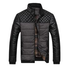New Business Men Fashion Winter Jackets Plus Size L-4XL Super Warm Patchwork Plaid Design Young Man Casaul Zipper Coats
