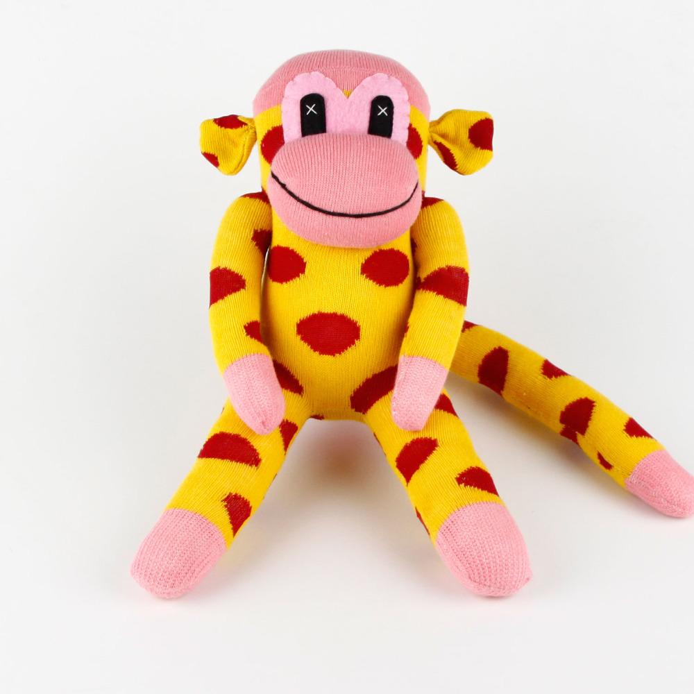 Kids Birthday gift 100% handmade DIY stuffed sock animals doll baby toys sock monkey Christmas New Year Gifts MK012(China (Mainland))