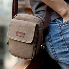 Men's Retro Mini Canvas Shoulder Bag