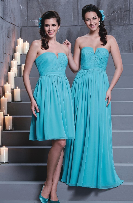 Vestido azul turquesa para boda