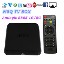 M8q Android TV Box Amlogic S805 Quad Core H.265 HEVC LAN Miracast 1 GB / 8 GB mise à jour en ligne Smart TV mieux que MXQ M8 CS918 Q7(China (Mainland))