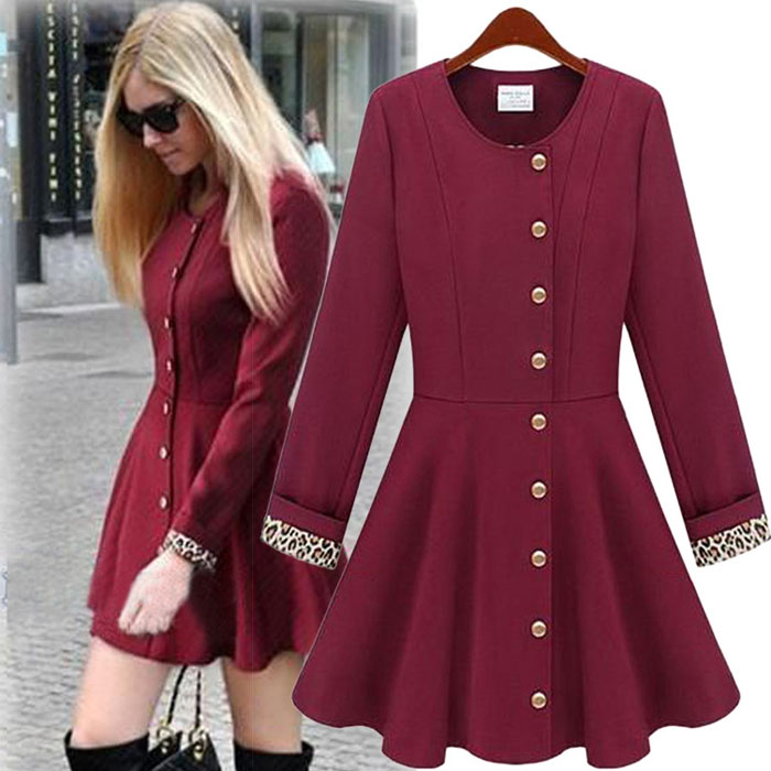 New Trench Coat Women Basic Coats Trench Coat Printed Womens Clothing
