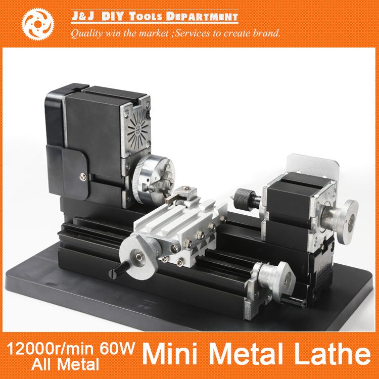 12000RPM, 60W Big Power Mini Metal Lathe Machine ,As DIY tool, it's best gift chirldren students. - J&J Supermarket store