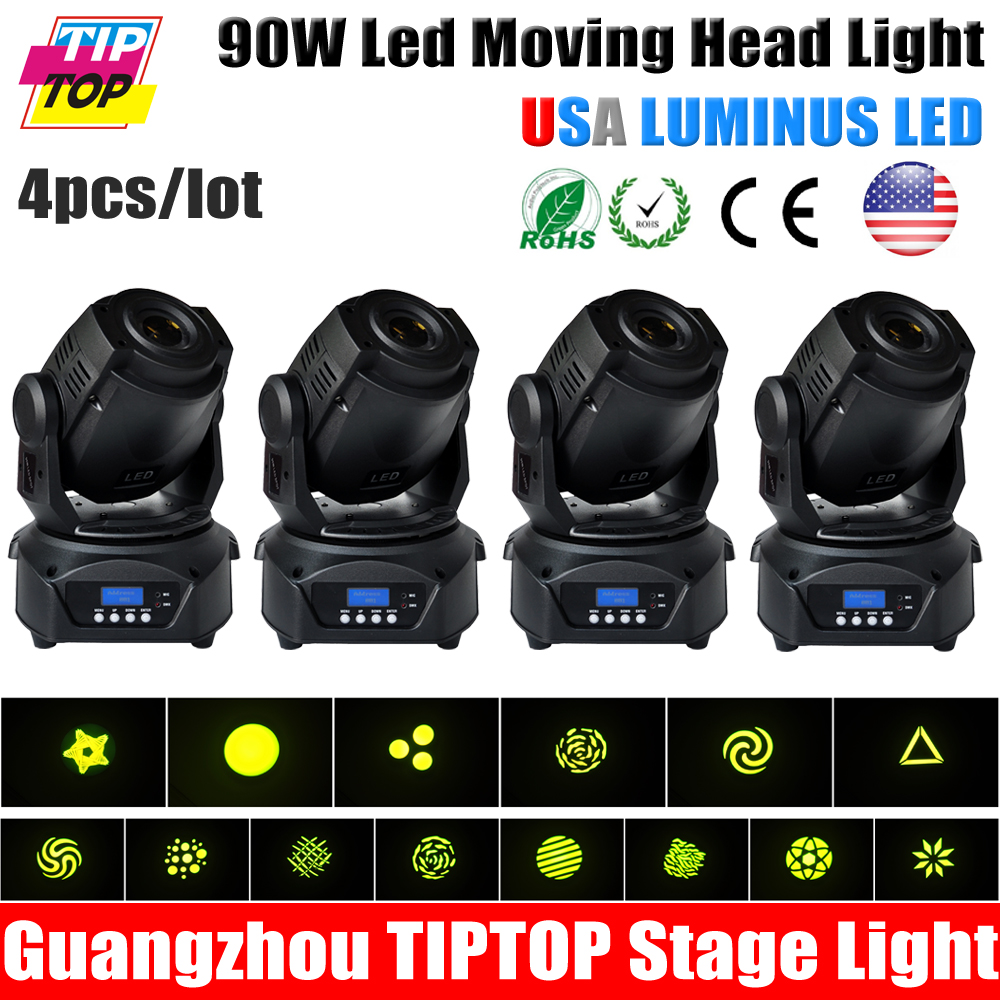 4Pcs/Lot 90W LED Spot Moving Head Lights DJ Controller For Stage Bar Disco Party DJ Wedding Free Shipping DMX 512 Function<br><br>Aliexpress
