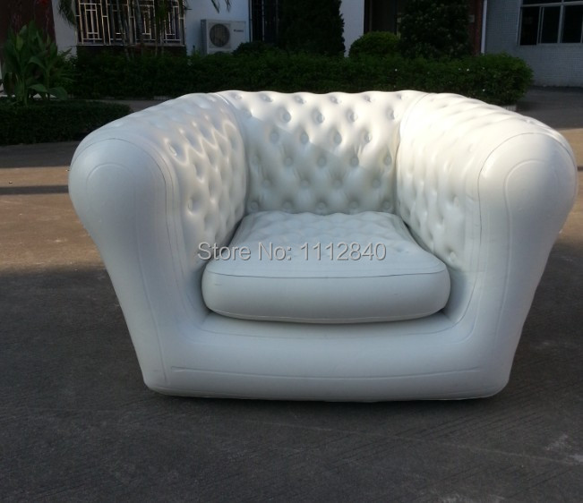 Good sale outdoor furniture chersfield pvc inflatable sofa for Sofa exterior pvc
