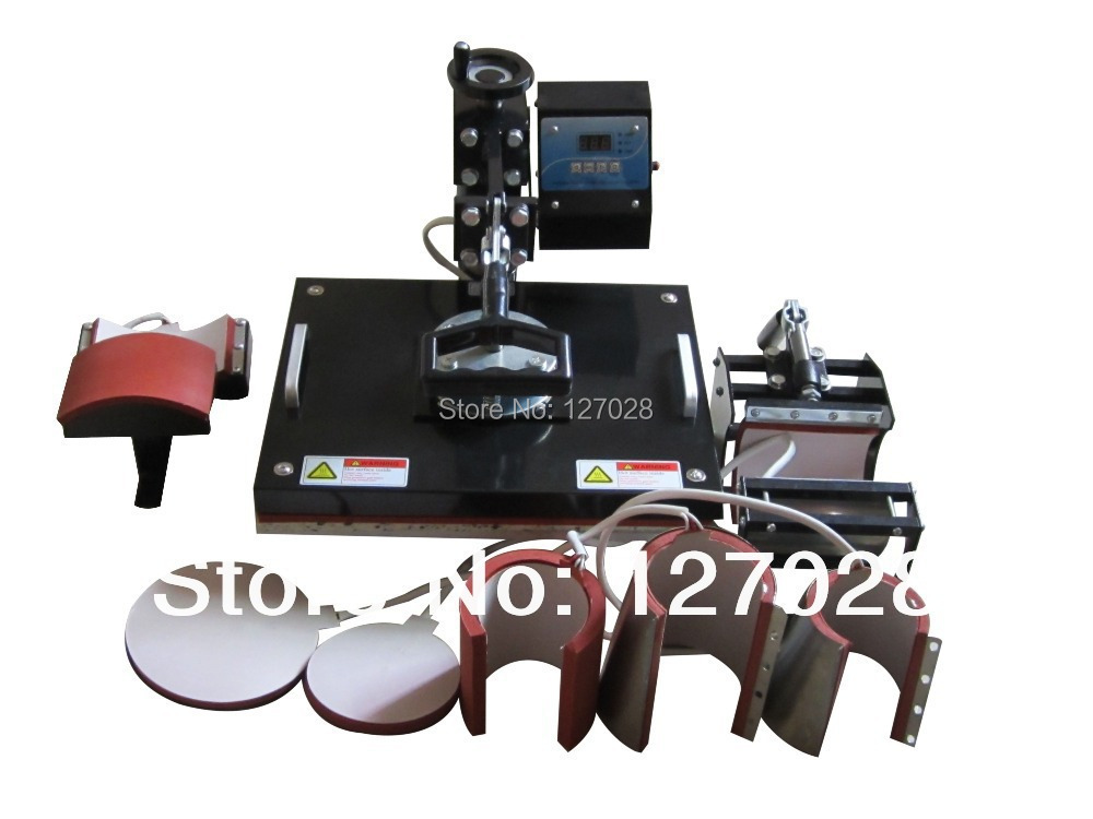 30*38CM 8 in 1 Combo Heat Press Machine Thermal Transfer Machine Heat Press Printer for Cap Mug Plate T-shirts Printing(China (Mainland))
