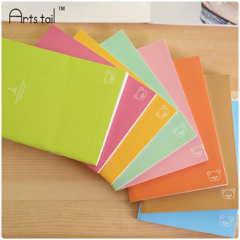 8pcs Creative stationery cute easily bear portable mini notebook A6 notebook diary book multicolor thin Notepad(China (Mainland))