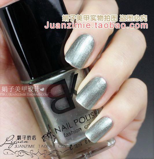 Bottle nail art casebottle bk nail polish oil 18ml silver small 101 light green
