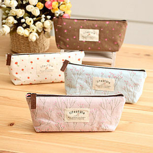 Korea stationery zakka rustic stationery bags pencil case pencil case storage bag