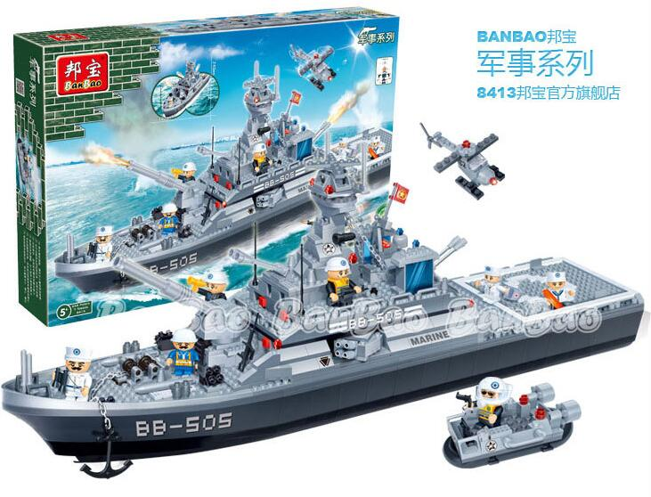 building block set compatible lego new military destroyer 3D Construction Brick Educational Hobbies Toys Kids  -  JBxin store