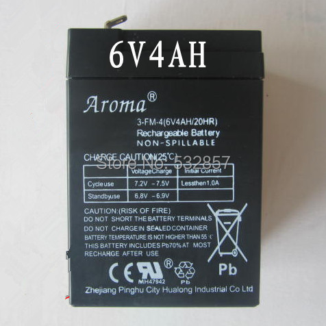 High Quality 6V 4AH Toy Battery Rechargeable Small Lead Acid Battery Electric Car Battery 6V 4AH With Deep Cycle Performance(China (Mainland))