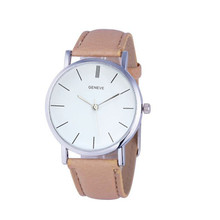 MALLOOM Watch 2016 Womens Watches New Design PU Leather Quartz Watch Women Wristwatch Clock 6 Colors reloj mujer montre femme