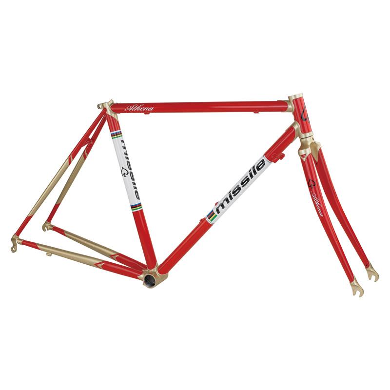 50cm and 52cm MISSILE ATHENA Reynolds 520 Cast Lug Steel Bicycle Frame,For Road Bike. Include Fork. RED+GOLDEN, BLACK+GOLDEN(China (Mainland))