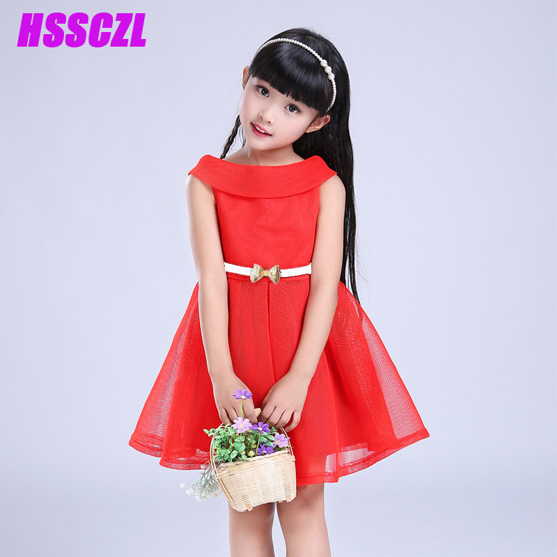 2 11 age girls dresses 2017 New children s clothing girl red fashion mesh  princess small dress sleeveless bow chinese style. Small Girls without Dress Promotion Shop for Promotional Small