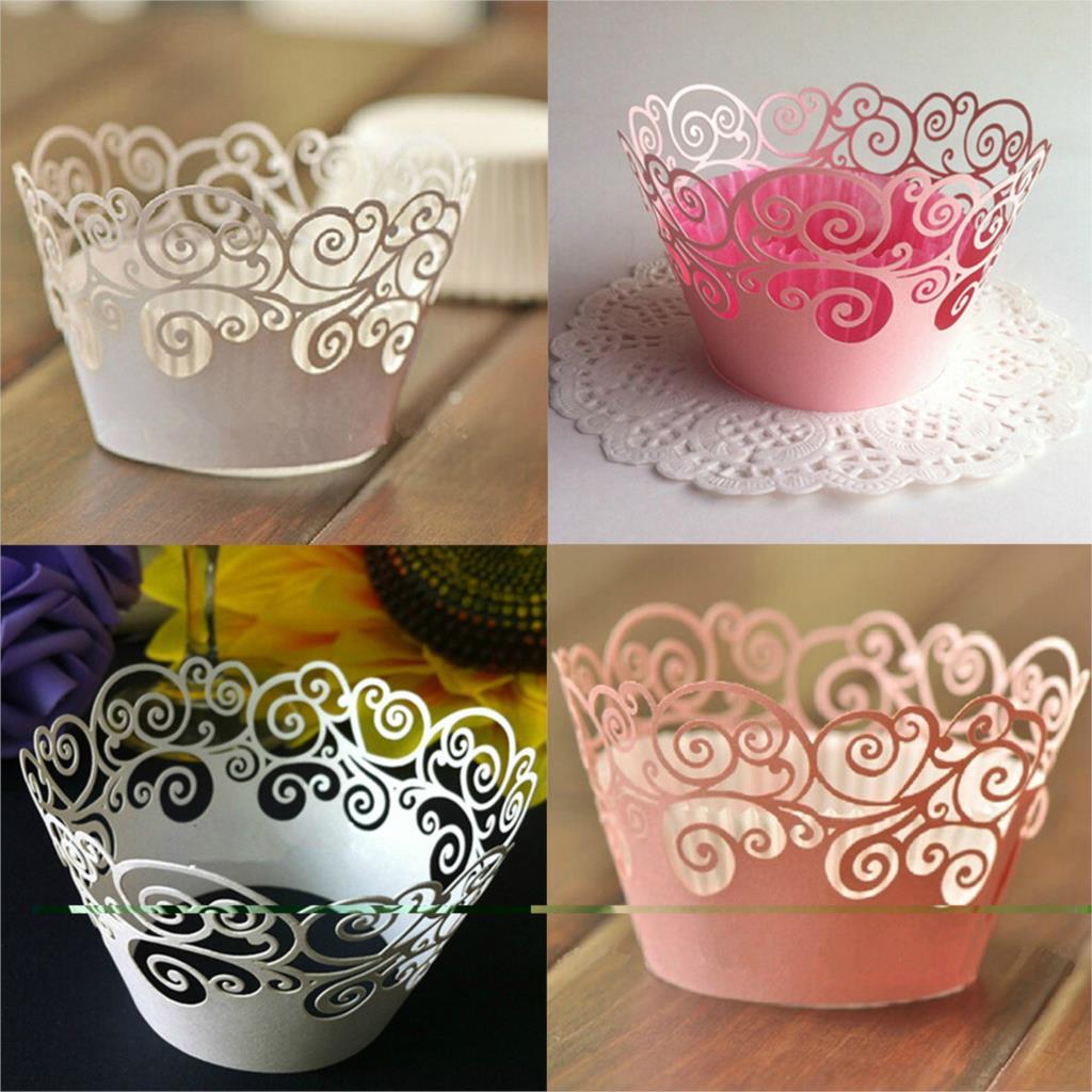 2015 12Pcs/set Vine Filigree Cupcake Laser Cut Clouds Design Cake Paper Wrapper Muffin Wrap Surround Edge Birthday Party Decor(China (Mainland))
