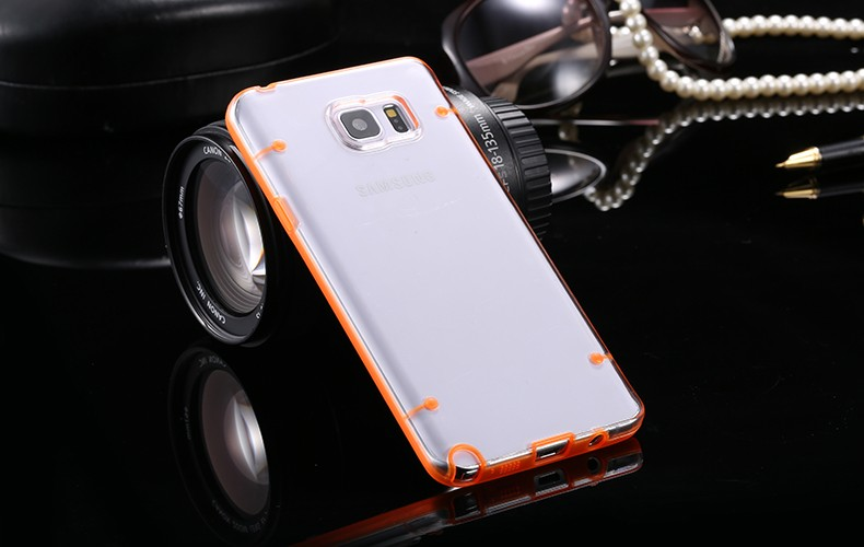 Note 5 Luminous Lights Clear Transparent Phone Cases For Samsung Galaxy Note 5 N920K Accessories Soft TPU Protective Cover