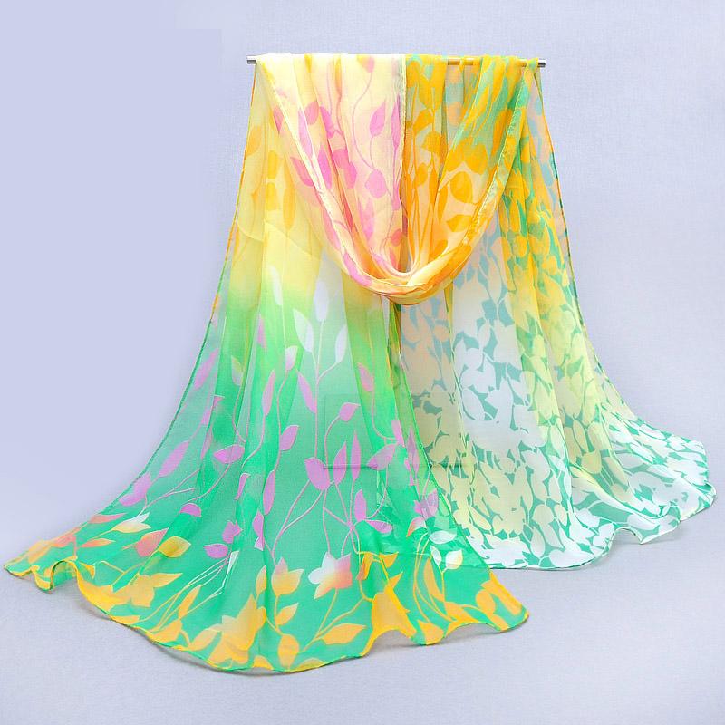2016 Summer Fashion Scarves Womens Chiffon Scarf Printing Thin Long Georgette Shawl Print shawl And Scarves Wrap 160*50cm(China (Mainland))