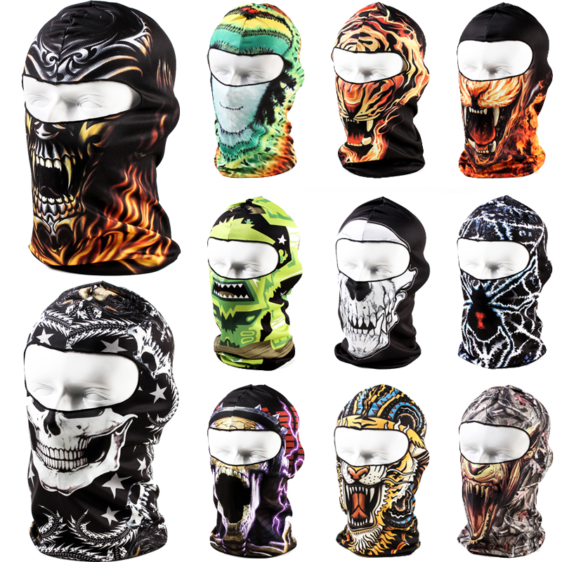 2016 New 3D Balaclava Motorcycle Cycling Hunting Ski Outdoor Hood Hat Cap Cs Snowboard Full Face Mask - Professional Factory Store store