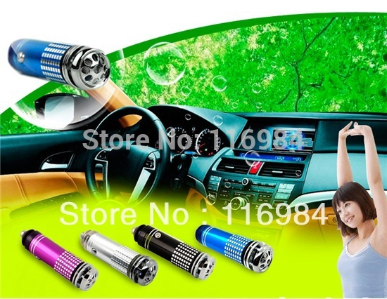 1pcs x Car Auto Air Purifier 12V Mini Fresh Anion Oxygen Bar Deodorizer Cleaner Purifier (without Oxygen)(China (Mainland))