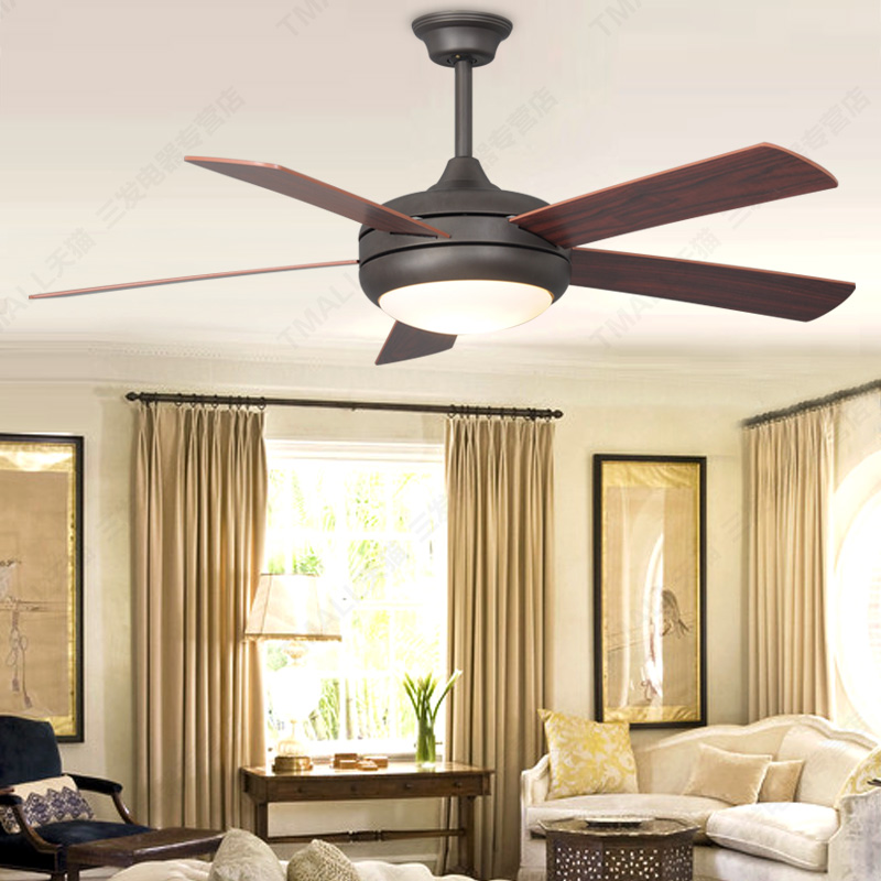 Simple European Wood Blade Ceiling Fan Light Simple Fashion Fan Light Fan Liv