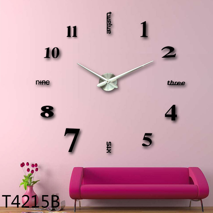 Wholesale Promotion Diy Large Wall Clock 3d Acrylic Mirror Wall ...