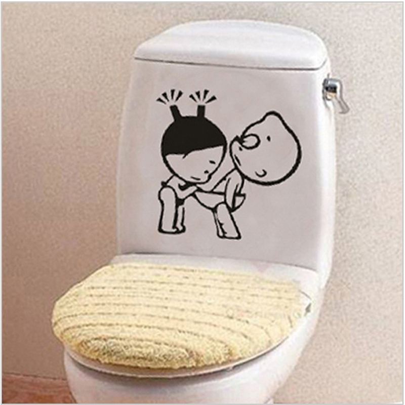 Toilet Sticker Removable Wall Stickers For Toilet Fridge Funny Kids Sticker On The Toilet Washing Machine Vinyl Wall Decoration(China (Mainland))