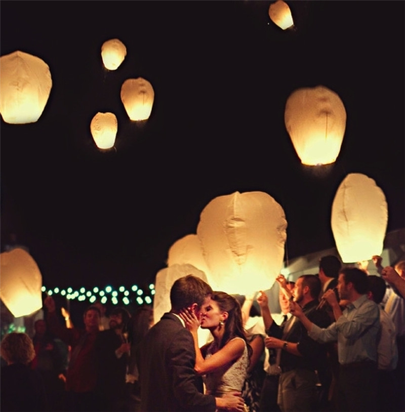 Oval shape 11pcs/lot wedding flying paper sky lanterns with pre-attached fuel party decorations 8 colors free shipping(China (Mainland))